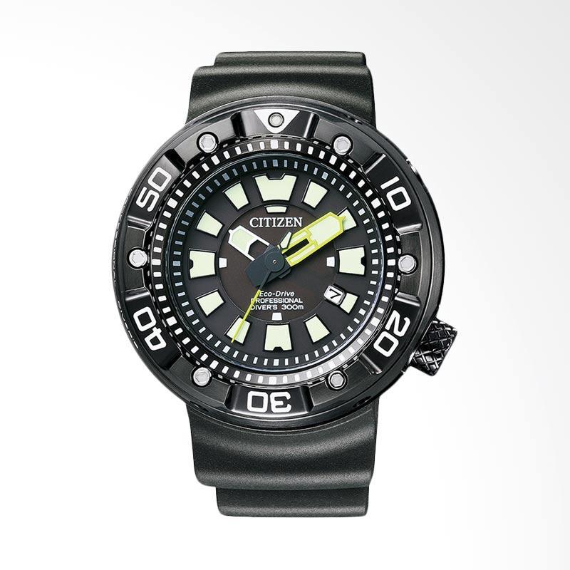 Citizen Promaster Eco Drive Professional Divers 300M DLC Coating Case Jam Tangan Pria BN0177-05E