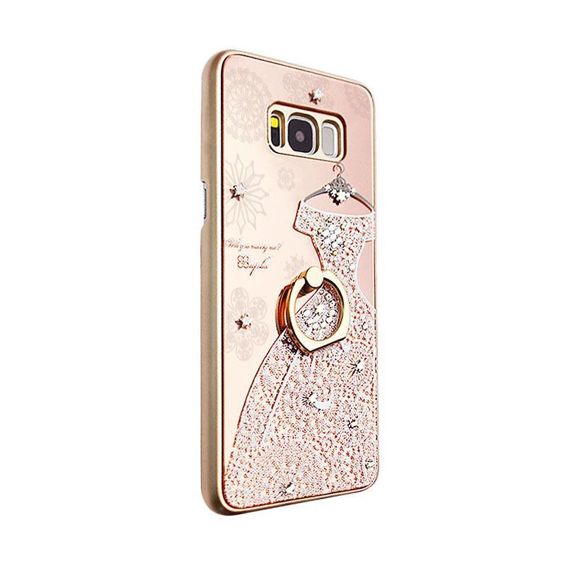 apbs® x Swarovski Wedding Dress Ring Casing for Samsung Galaxy S8 Plus - Pink