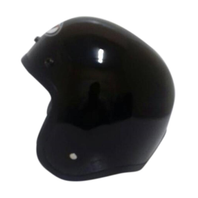 THI Helmets Classic Polos Helm Half Face - Hitam