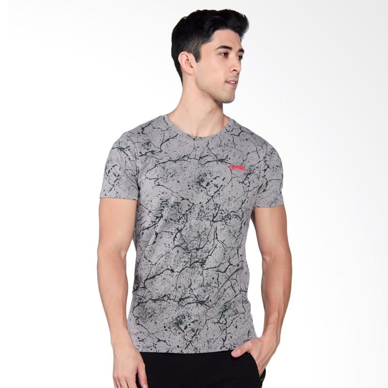 3SECOND Mens Tee T-Shirt Pria - Grey [0210 102101712AB]