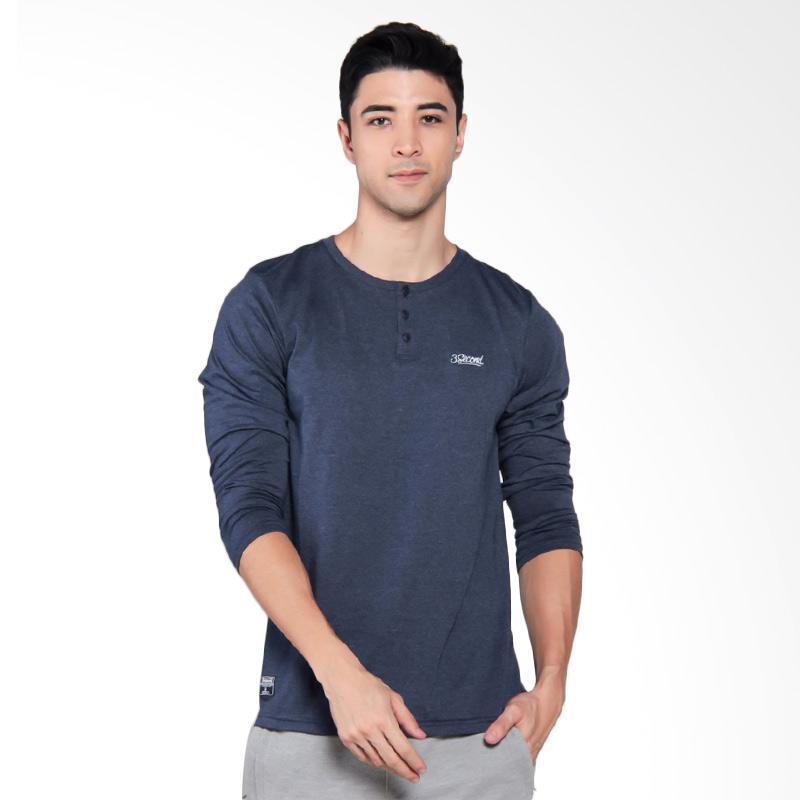 3SECOND Mens Tee T-Shirt Pria - Blue [0810 108101712BR]