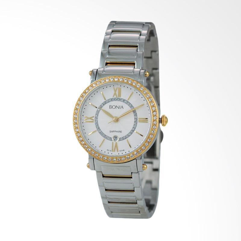 Bonia - Jam Tangan Wanita - B10146-2113S - Silver Gold
