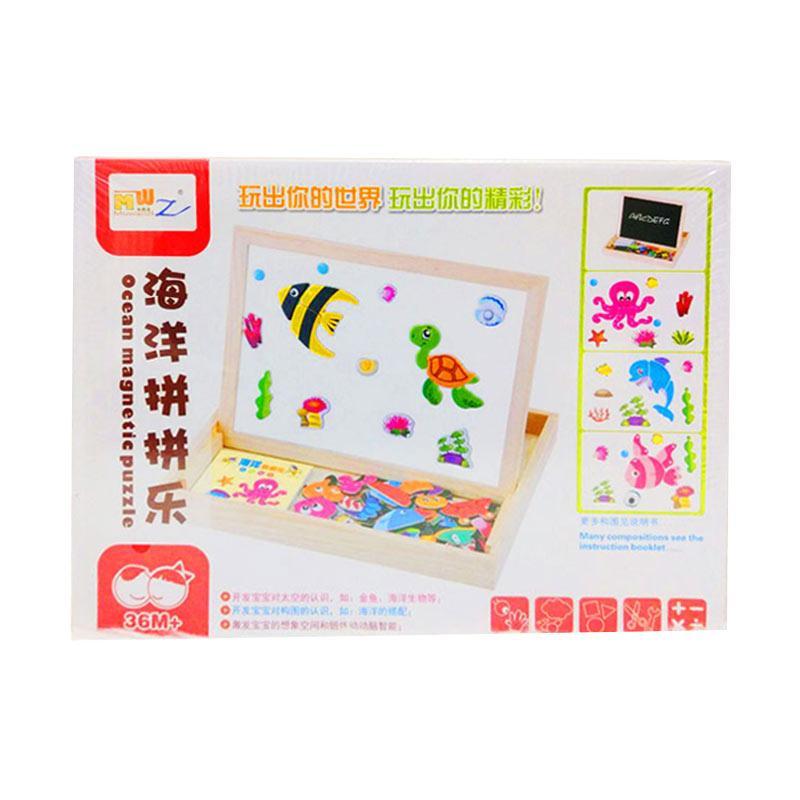 Istana kado IKO00856 Insert Magical puzzle N/A Turtle Kura Kura Mainan Edukasi