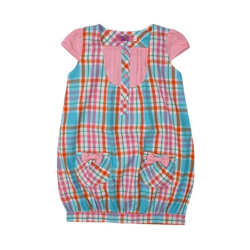 4 You Pattern Dress Anak - Pink