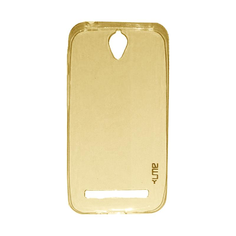 Ume Ultrathin Silicone Jelly Softcase Casing for Asus Zenfone Go 4.5 Inch ZC451TG - Kuning