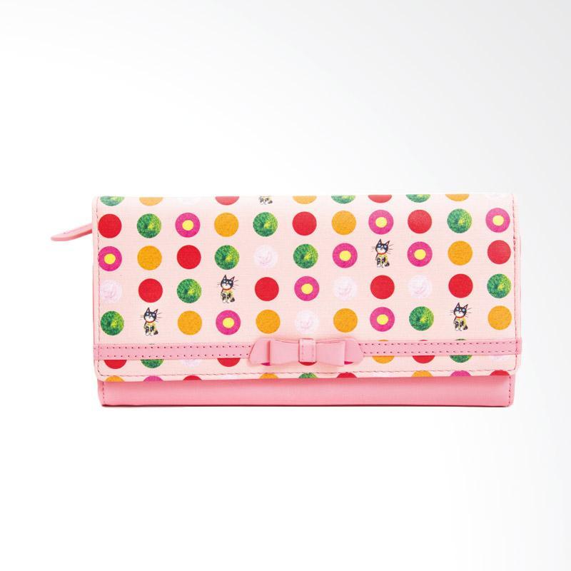IPC Mansion Selected Colourful Cat Long Purse Dompet Wanita - Pink