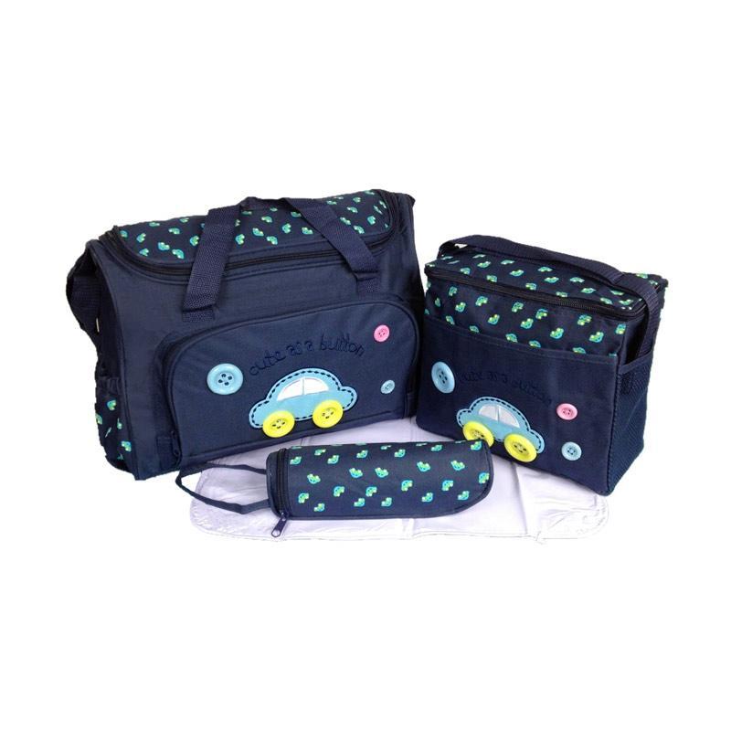 28Fashion 4 in 1 Multifungsi Diaper Bag Tas Perlengkapan Bayi - Navy