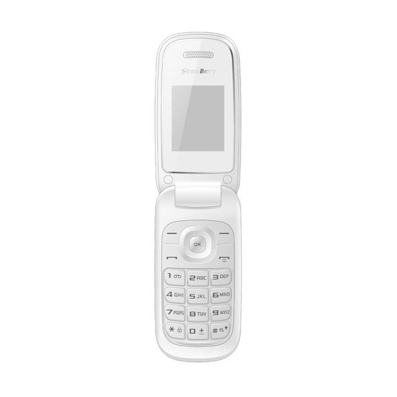 Strawberry S1272 Handphone Flip - White [Dual SIM/Camera]