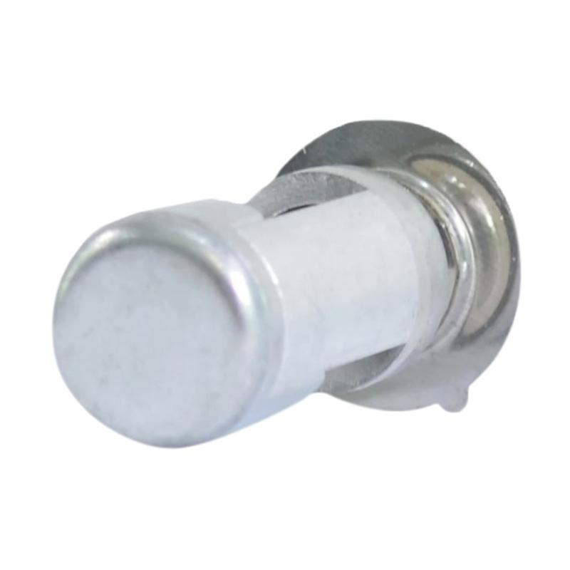 Raja Motor H6 LED (DC) Cover Silver Lampu Depan Motor LED 2 Sisi - Nyala Putih [DOH8109-CoverSilver-NyalaPutih]