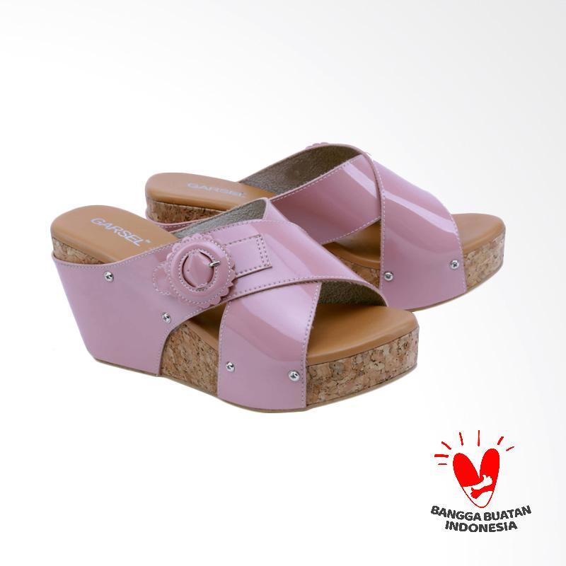 harga Garsel GCT 4285 Sandal Wedges Wanita - Pink Blibli.com