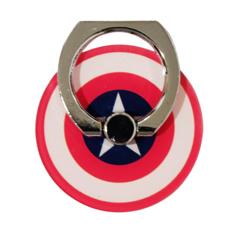 QCF Holder Ring Stand 3D Animasi Hero Captain America