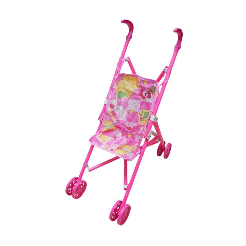 Wonderland Bady Cart Mainan Stroller Anak - Pink