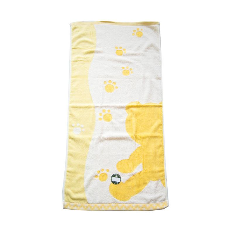 Dixon Bear Shadow 7080 Handuk Mandi - Yellow [60 x 120 cm]