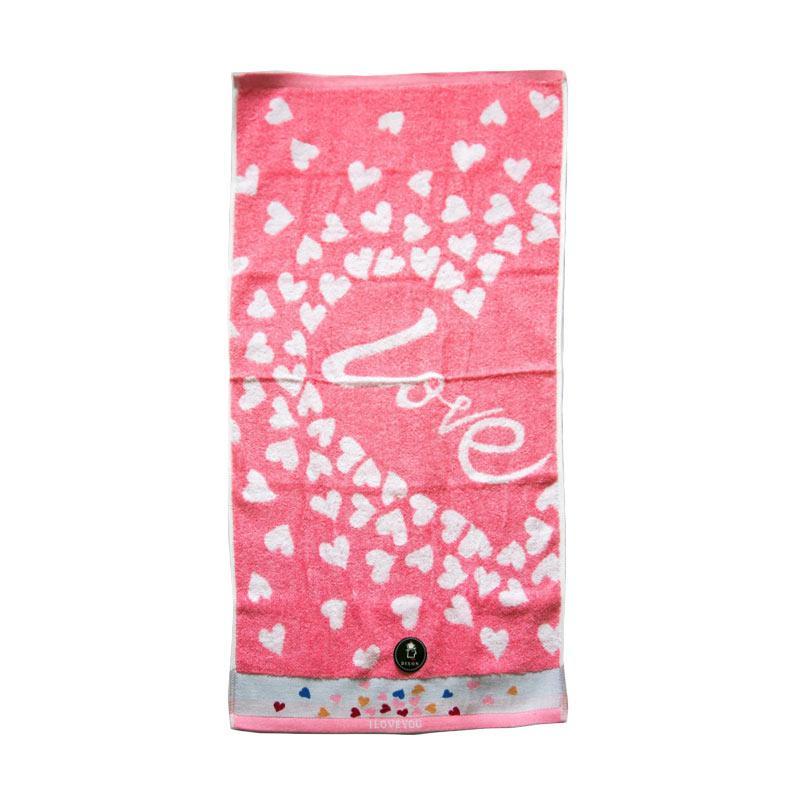 Dixon Lovely Heart 7081 Handuk Mandi - Pink [70 x 140 cm]