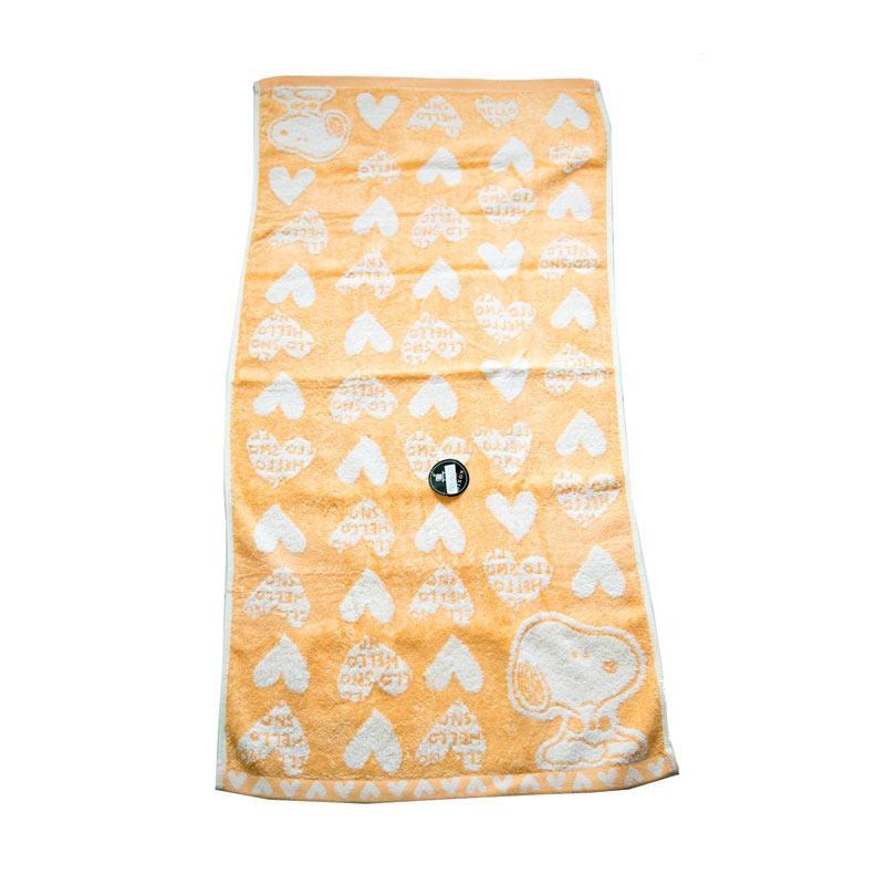 Dixon Snoopy Heart 7084 Handuk Mandi - Orange [60 x 120 cm]
