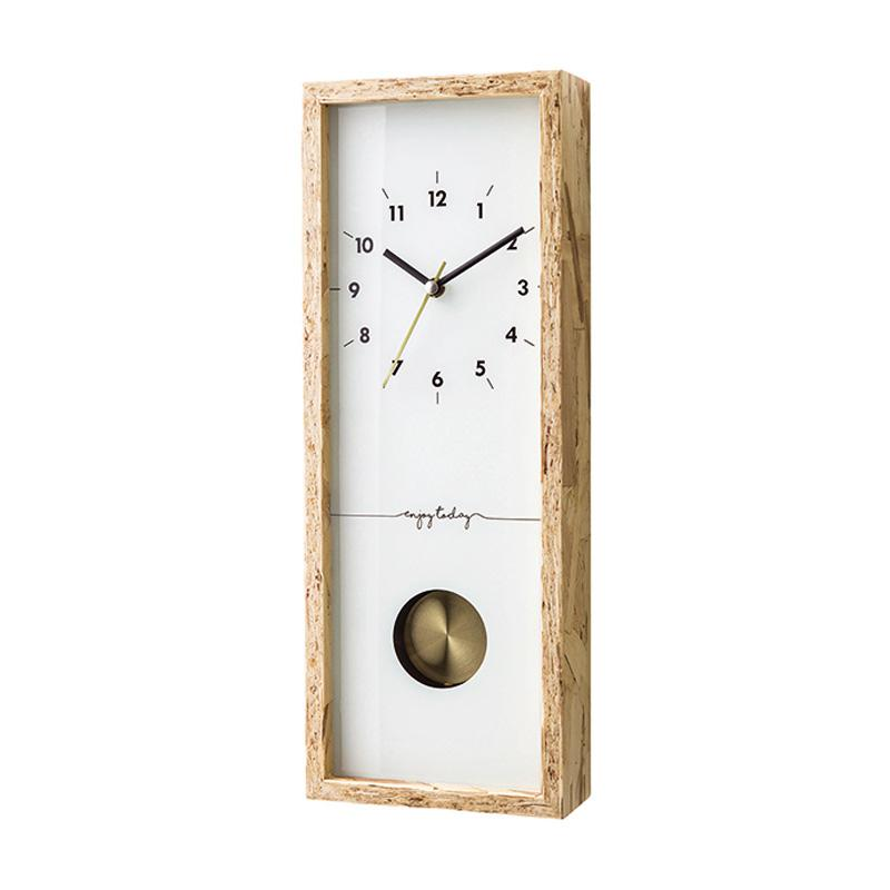 Zeller Life Modern Home Decor Silence with Pendulum Nocton Wooden Jam Dinding - White