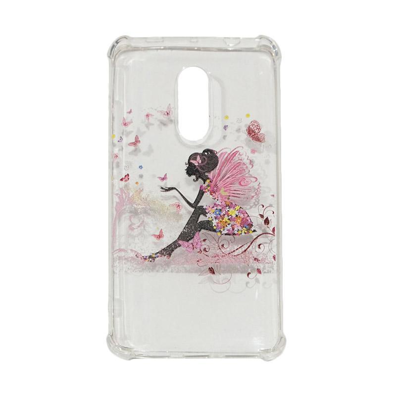 QCF Softcase Anti Crack Anti Shock Xiaomi Silicone Casing Gambar Fairy Peri + FREE Bumper Karet Animasi Random for Xiaomi Redmi Note 4X