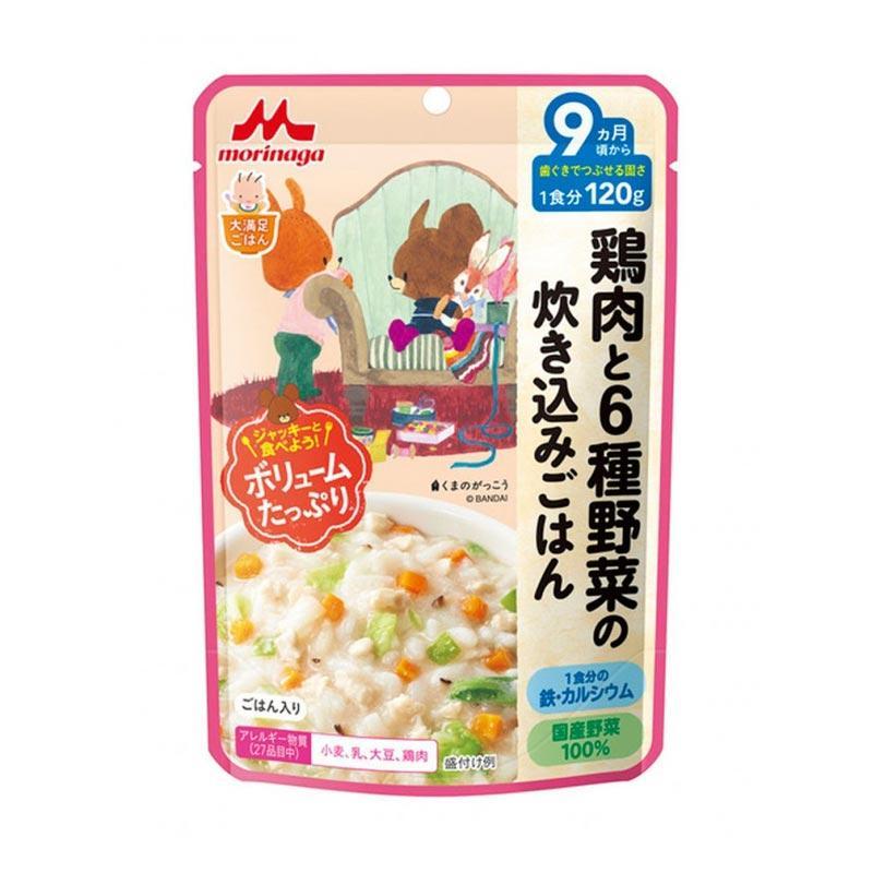 Morinaga Chicken With 6 kinds of Veggie Rice Makanan Bayi  [120 g/ 9 m+]