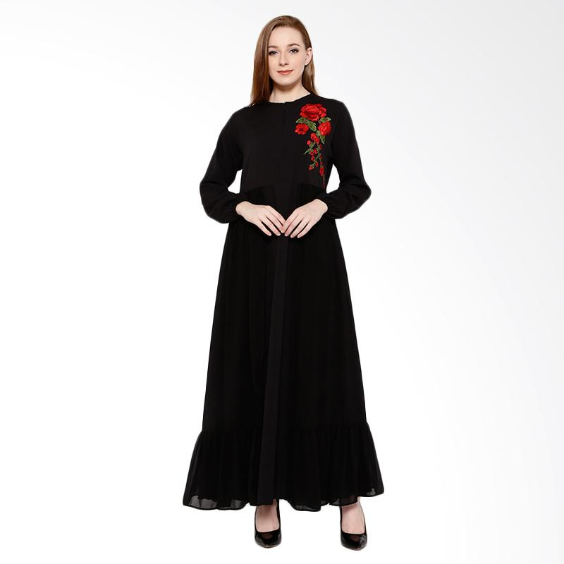 Delarosa Roseries Dress - Black