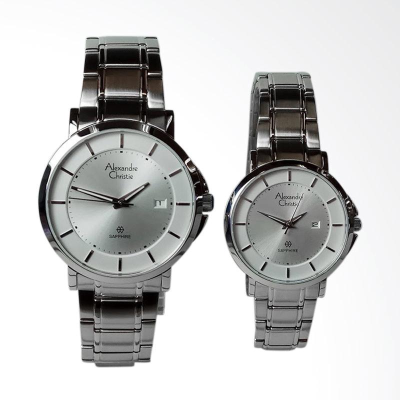 harga Alexandre Christie Sapphire Stainless Steel Dial White Jam Tangan Couple - Silver [AC8545MD/LD] Blibli.com