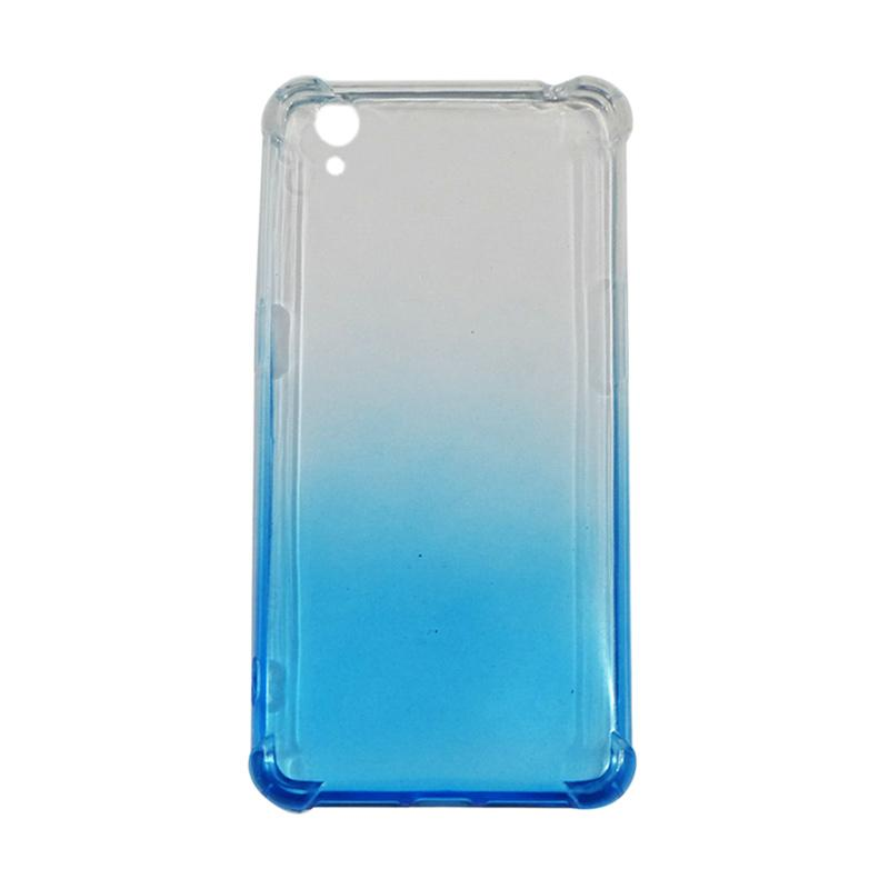 QCF BUY 1 GET 1 Softcase Anti Shock Anti Crack Warna Gradasi Silicone Casing for Oppo A37 Neo 9 Ultrathin - Biru (Free Warna Random)