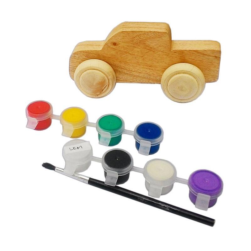 Atham Toys Warnai Mobilku Mainan Kayu Edukatif