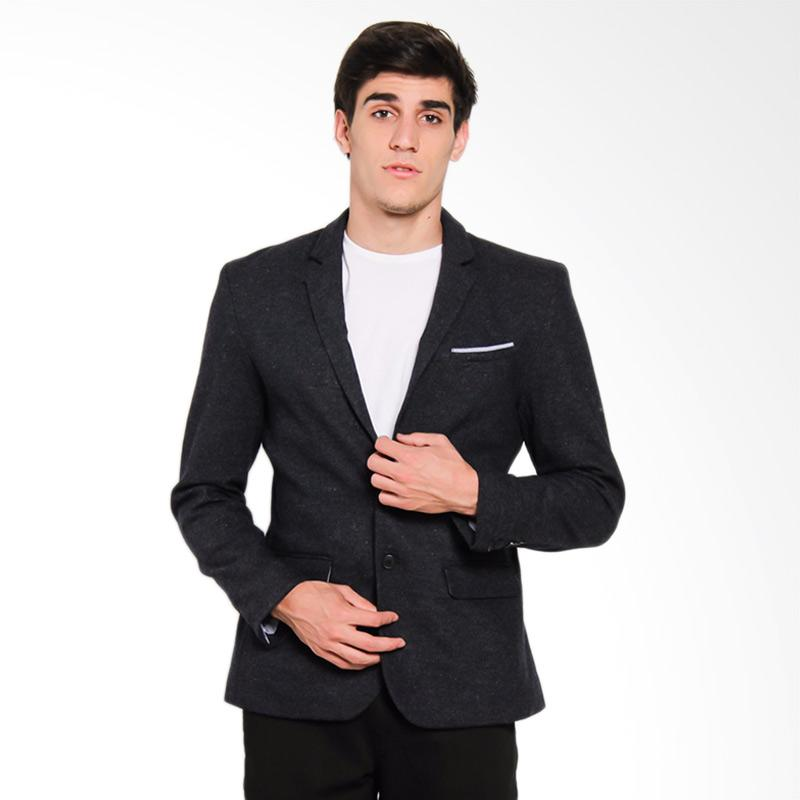 Famo Men Jacket 0211 Blazer Pria - Blue