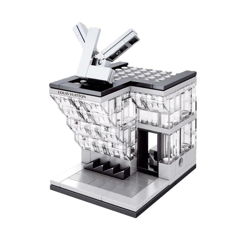 Sembo Louis Vuittqn Store Mainan Blok dan Puzzle