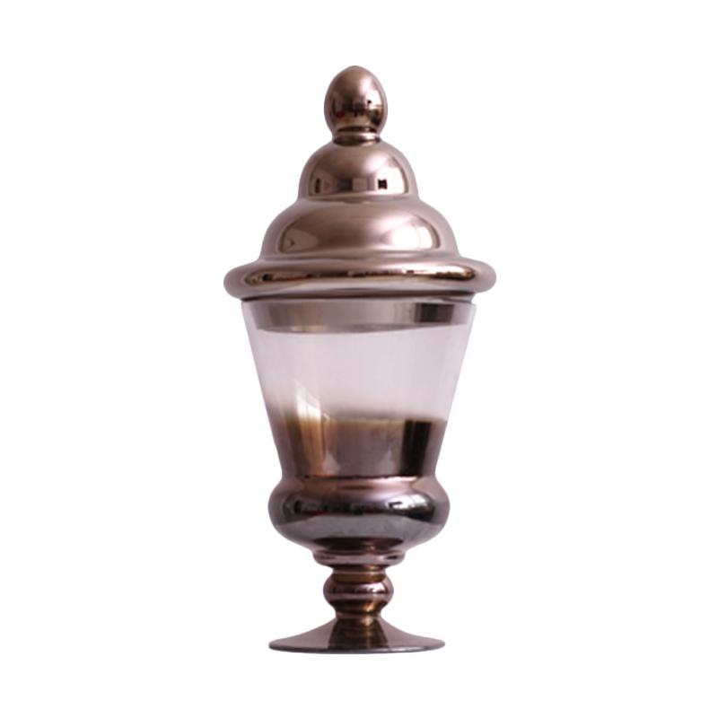 Thema Home 1651 Chromed Glass Vase - Perak