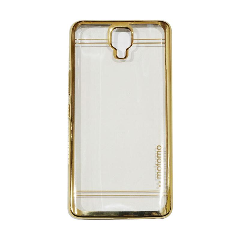 Motomo Shining Chrome Silicone Softcase Casing for Infinix Note 4 X572 - Gold
