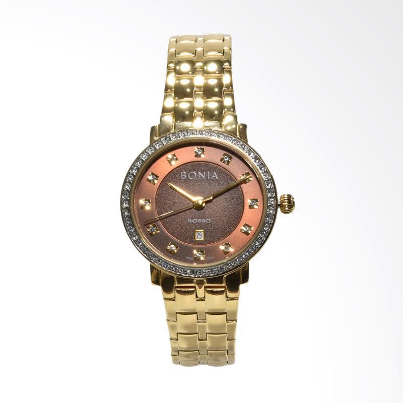 Bonia Rosso Swarovski BNB10272-2247S Jam Tangan Wanita - Gold