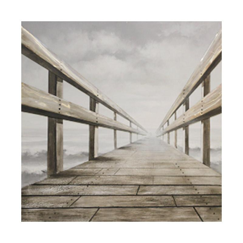 Thema Home 6536 3D Painting Pier MH-313 CNYU Lukisan - Grey