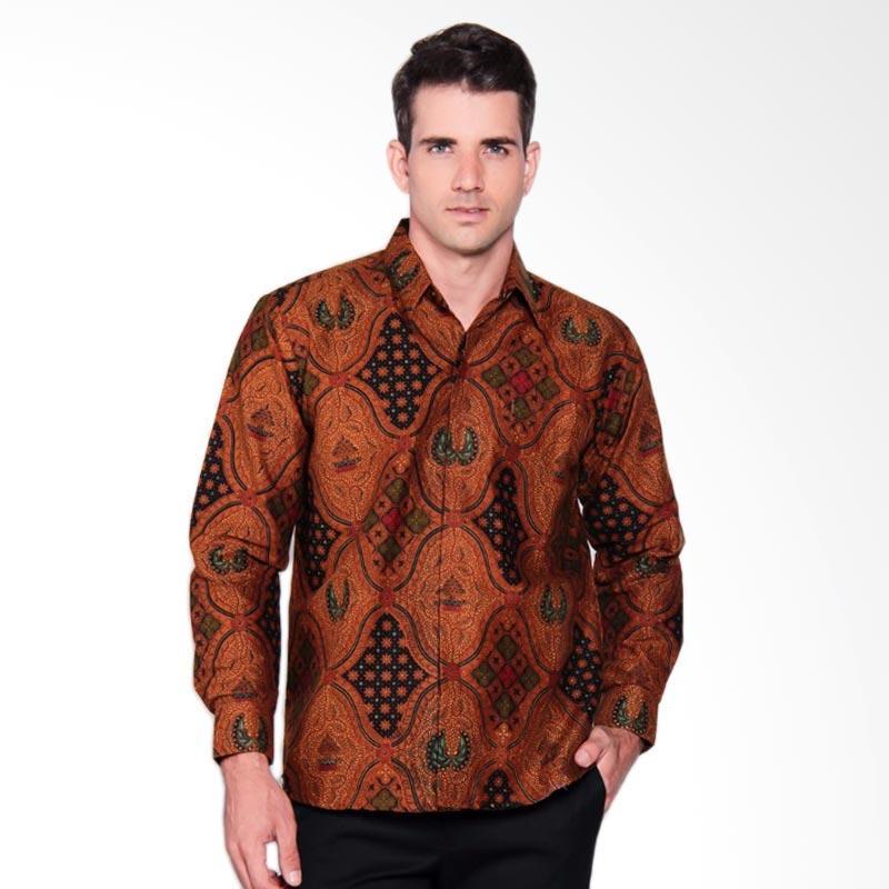 harga Mercy Batik Kombinasi Cap Sogan Long Sleeve Kemeja Batik Pria - Brown  Blibli.com 5e0308b9f7