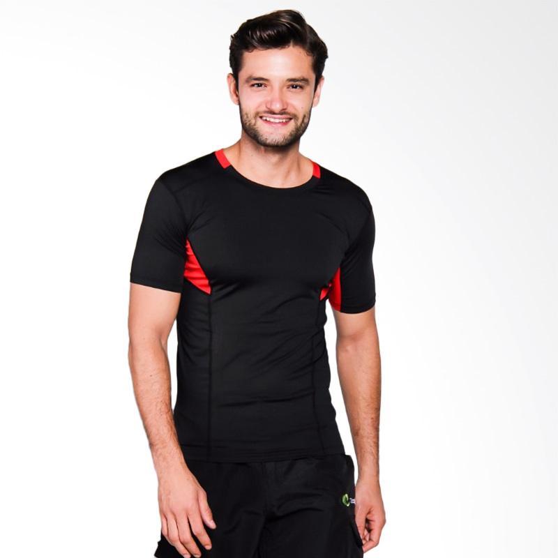Zcoland Fast Dry Sport Kaos Olahraga - Black Red [Z1K002]