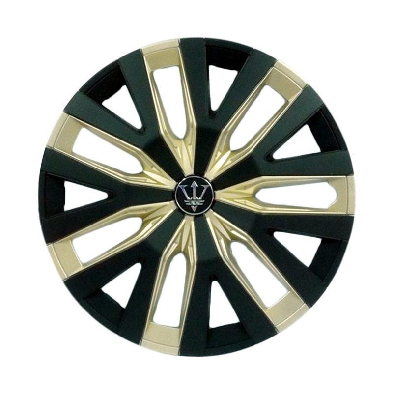 SIV Sport Wheel Cover Evolution Design WD4-1GL-14 Inch Dop Roda Mobil - Black Gold