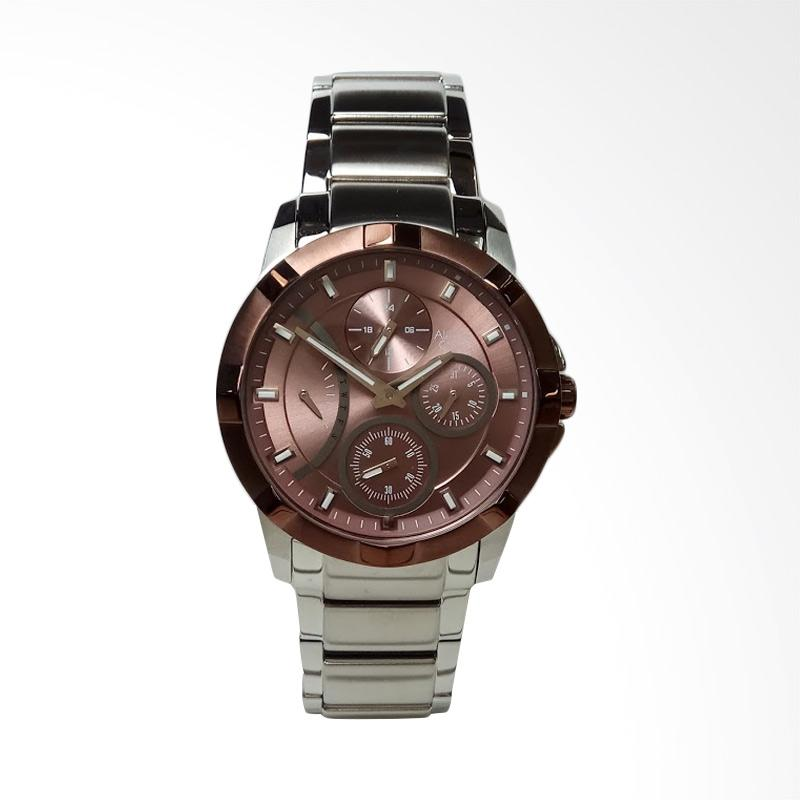 Alexandre Christie AC2503BF Multifunction Stainless Steel Jam Tangan Wanita - Silver Brown