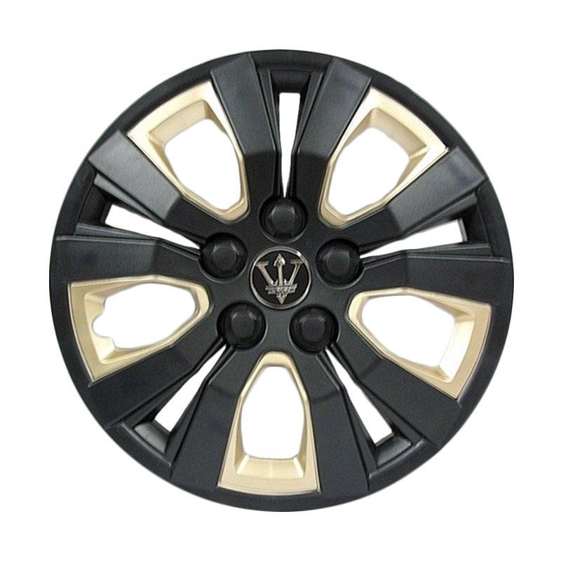 SIV WA3-1GL-13 Inch Sport Wheel Cover Evolution Design Set Dop Roda Mobil - Black Gold