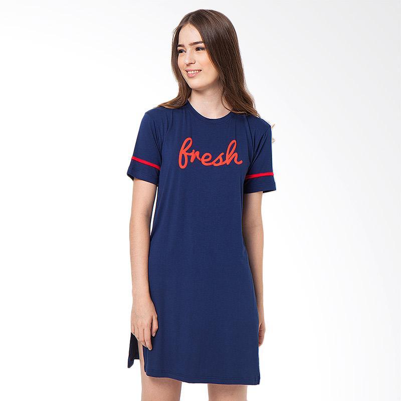 Boontie Fresh  Dress Wanita - Navy