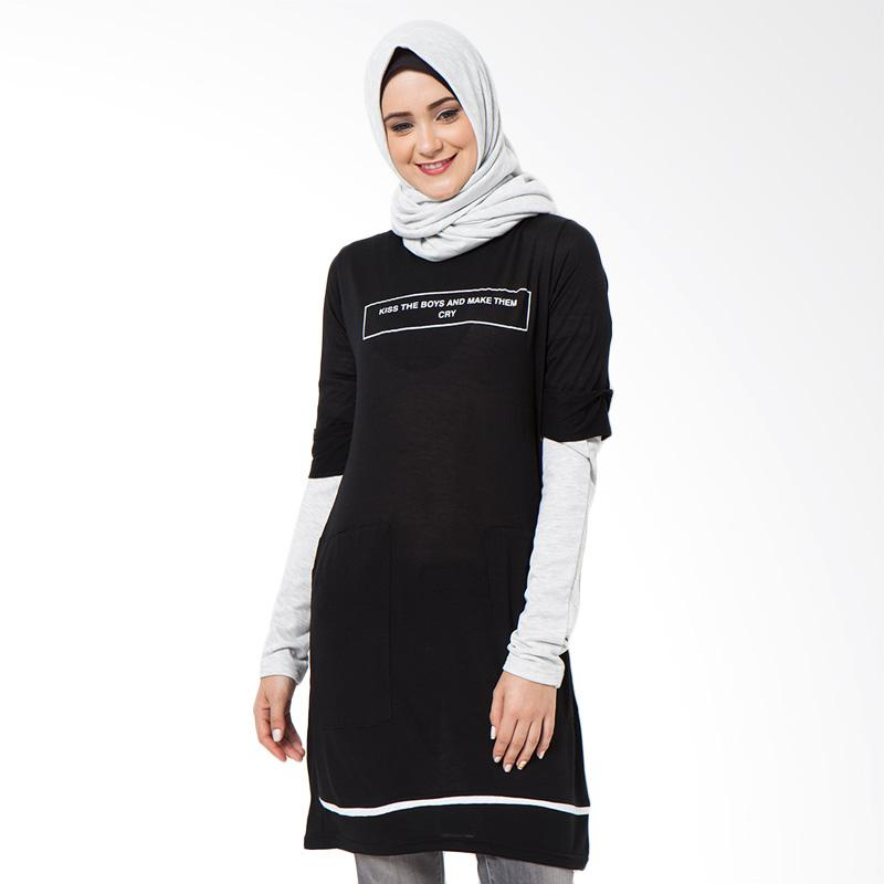 Boontie Kiss and Cry Dress - Hitam