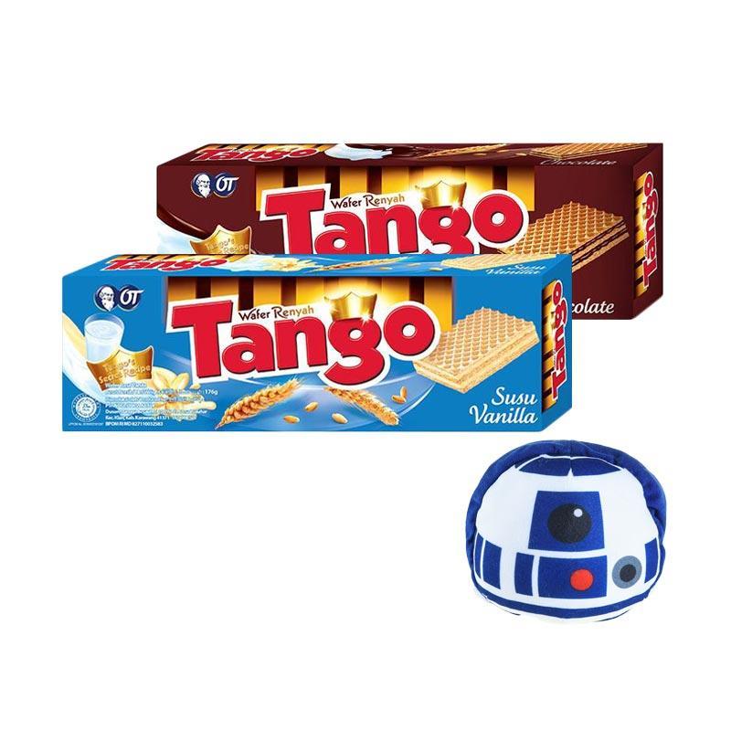 harga Tango Wafer Chocolate [176 g] + Tango Wafer Vanilla [176 g] + Tsum Tsum Tango R2D2 Blibli.com