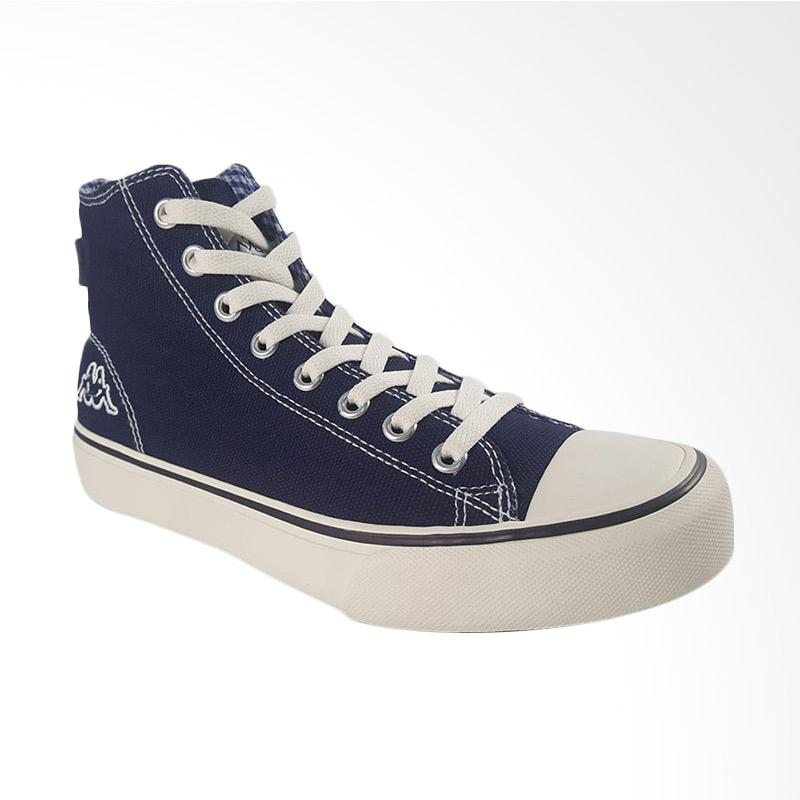 ab15612c53 Jual Kappa Orion Hi Cut Canvas Sneakers Shoes - Navy Online - Harga ...