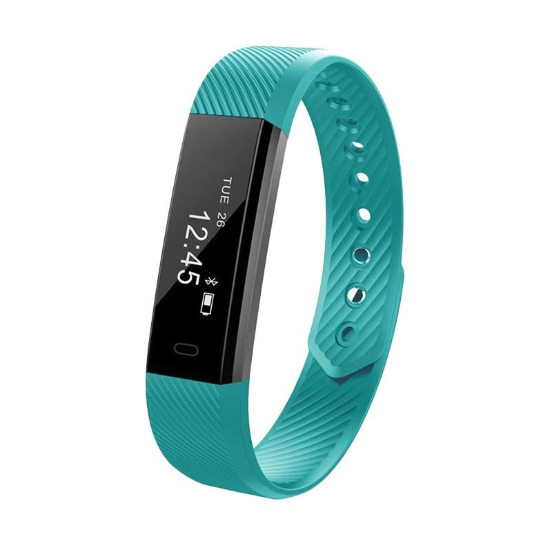 harga SOXY ID115Lite CC0384L Smart Bracelet TPE Material Anti-theft Camera Phone Search Device LED Screen Wrist Smartwatch - Green Blibli.com
