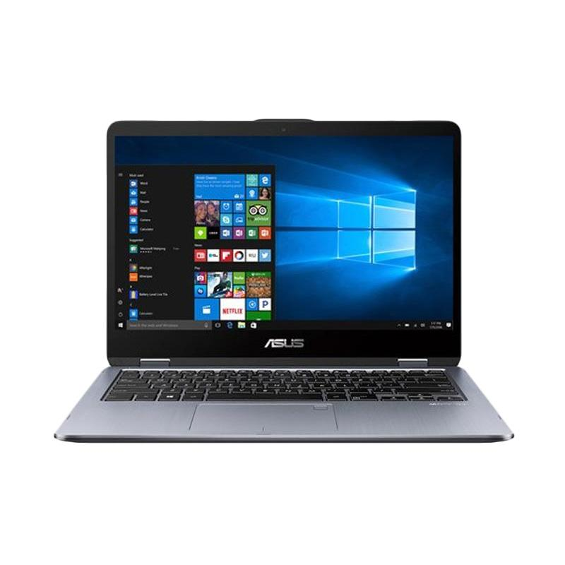 PROMO_Asus VivoBook Flip 14 TP410UR-EC701T Notebook - Grey [i7-7500U/8 GB/128 GB + 1 TB/GT930MX 2 GB/14