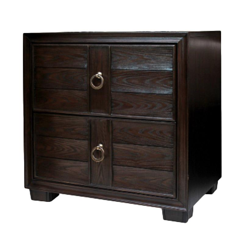 Thema Home 0939 Night Stand Chicago Meja Nakas - Chocolate [Wilayah Surabaya]