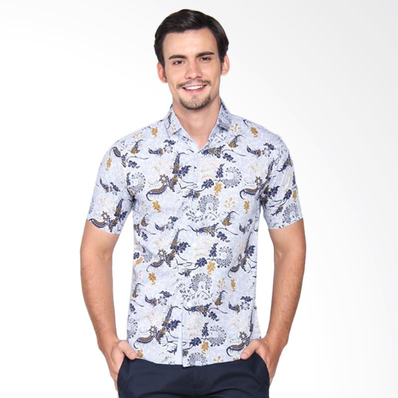 harga Gaya Jaya Batik Modern Slim fit Baju Kemeja Batik Pria - Biru [7991] Blibli.com