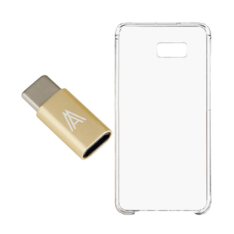 QCF Connector Type C Samsung Galaxy C9 Pro Original + Free Hardcase Casing Samsung Galaxy C9 Pro - Gold