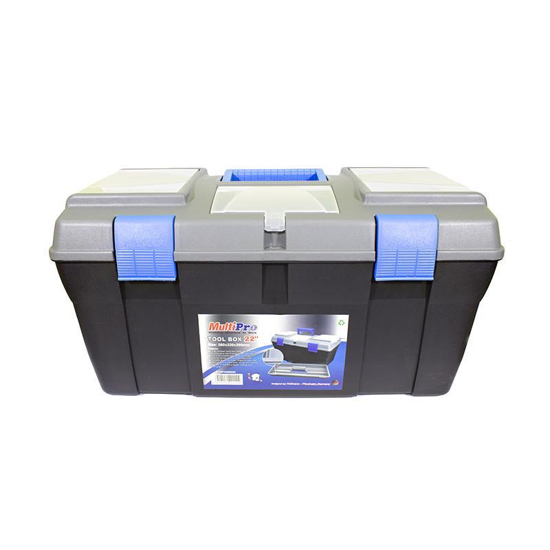 Multipro14010200220 Plastik Toolbox - Grey [22 Inch]