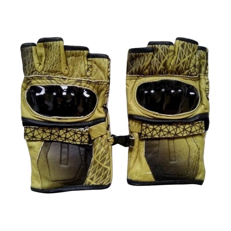 dm79 Batok Kulit Half Finger Sarung Tangan - Limited Yellow