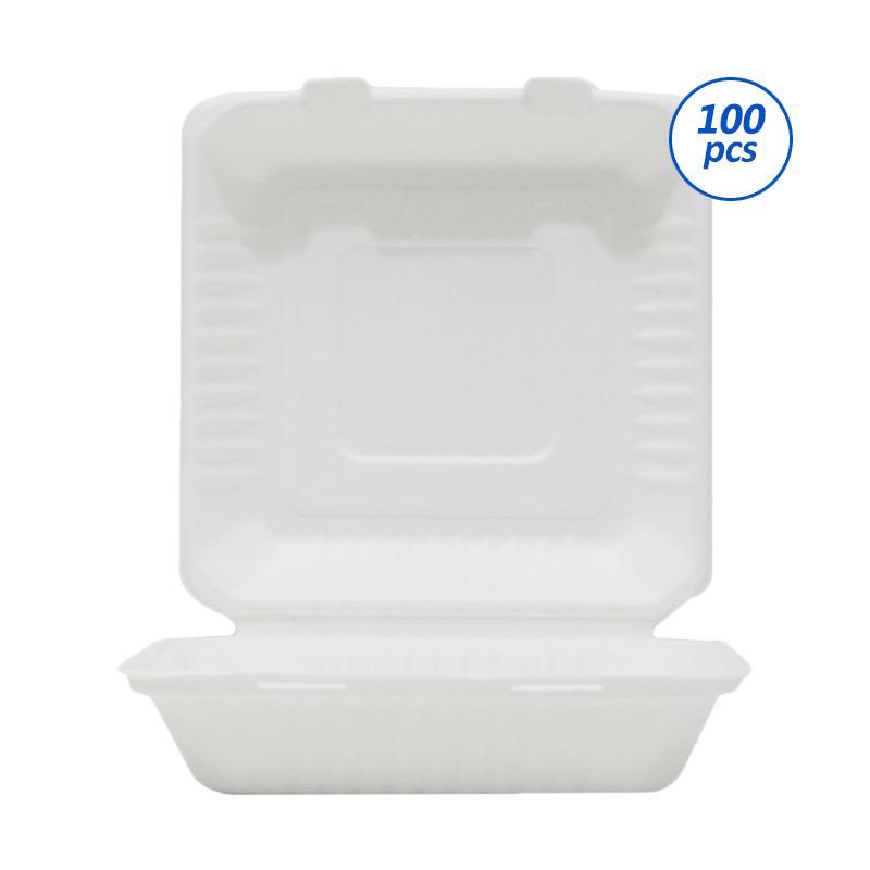 Avani Bagasse Kotak Makan [8 inch/100 pcs]