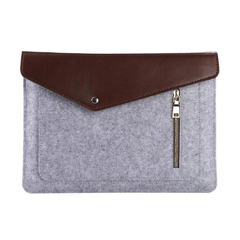 Cooltech Premium Soft Sleeve Bag Case Notebook Cover with Zipper for Macbook [15 Inch]